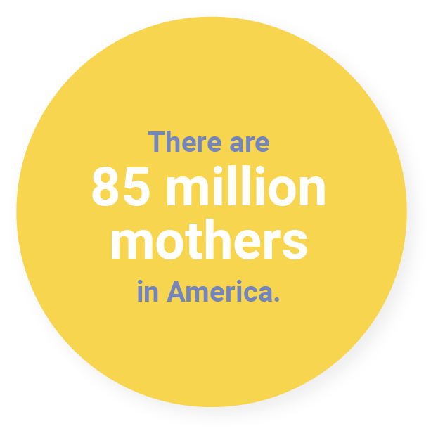 There are 85 million mothers in America.